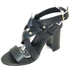 Aldo Leather criss cross strap Block Heel Sandals